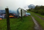 12 Shed consumed by lava flow