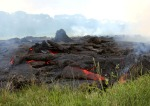17 One of the lava flow fronts