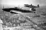 19 Soviet attack planes over Berlin -Apr 1945