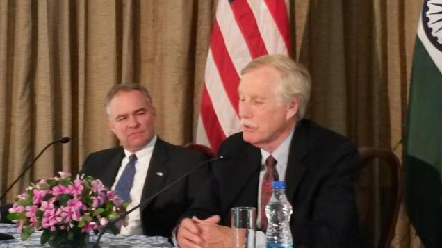 Senator Tim Kaine and Senator Angus King
