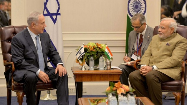 Benjamin Netanyahu meets Narendra Modi at UNGA, New York