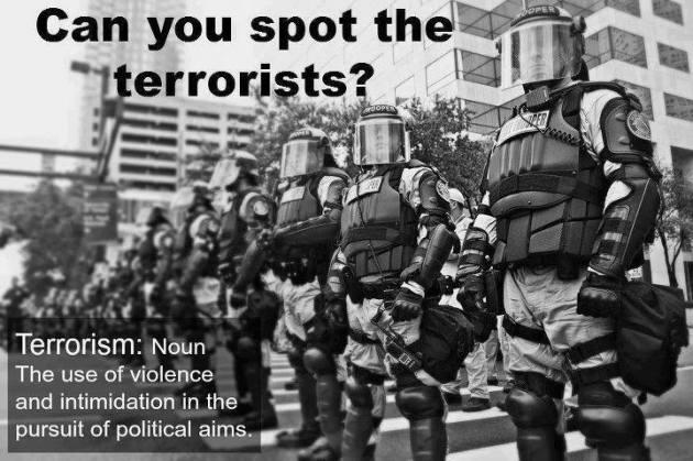 Spot terrorist