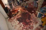 10 Bloodied floor in meeting hall
