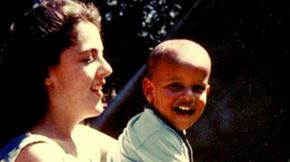 01 Obama with his mother Ann Durham