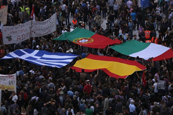 Anti-Troika protest in Greece