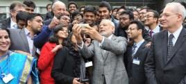 Modi with NRIs in France