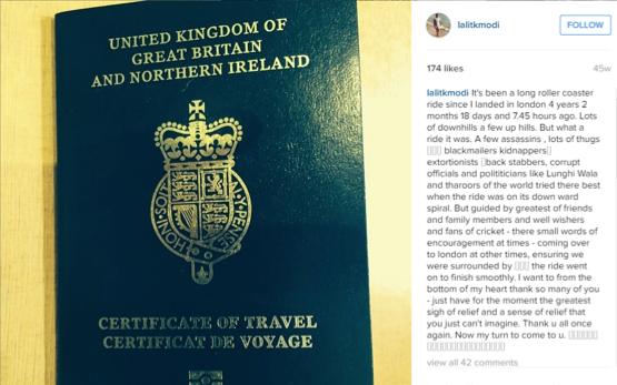 Center of storm: Lalit Modi's British Passport