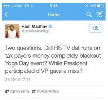 Ram Madhav Tweet