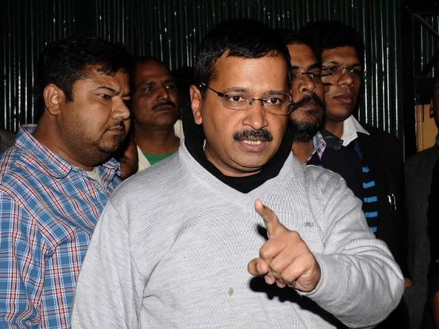 Arvind at Manish Sisodia's Residence