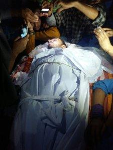 Body of Zahid Rasool Bhat