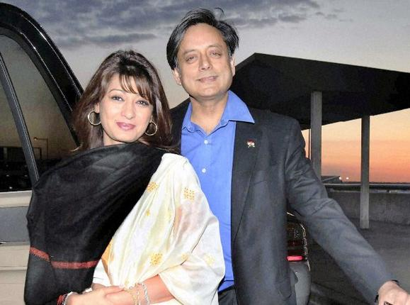Shashi Tharoor and Sunanda in New York in 2010