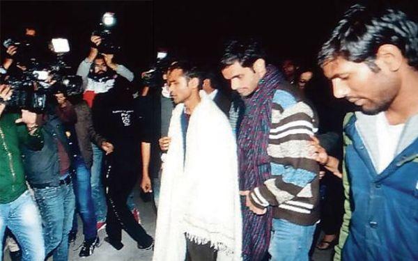 JNU students Umar Khalid Anirban Bhattacharya surrender