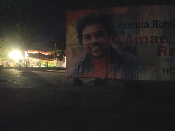 Rohith poster in UoH campus