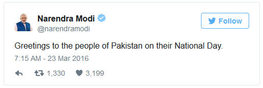 Pak day -Modi tweet