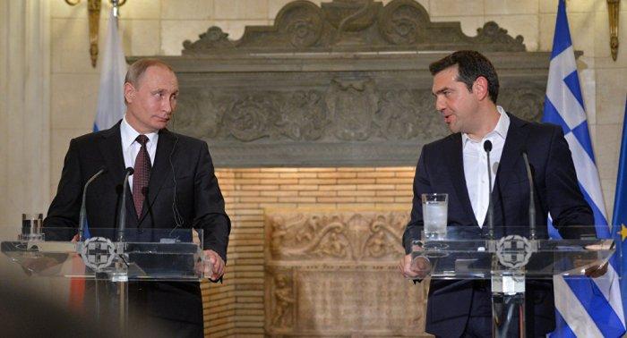 Vladimir Putin & Alexis Psipras