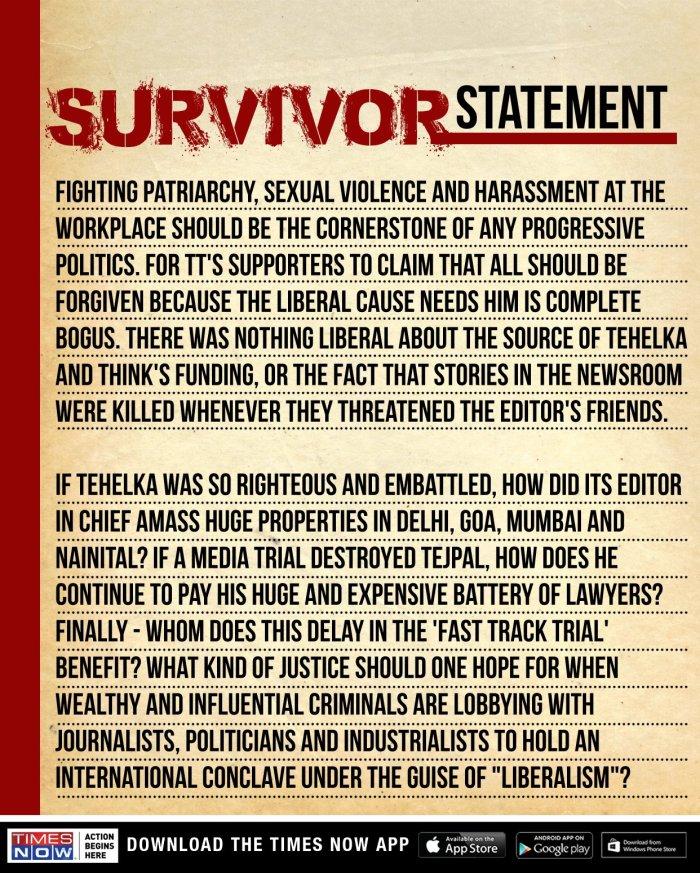 Survivor statement