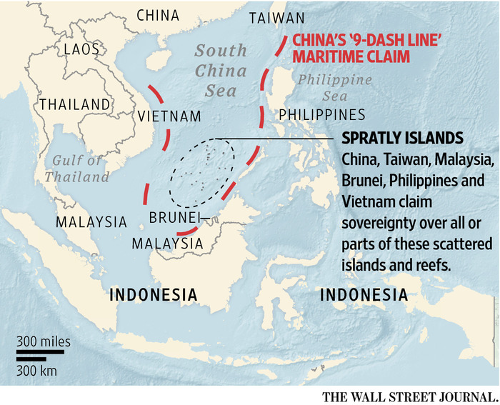 China 9 dash line maritime claim