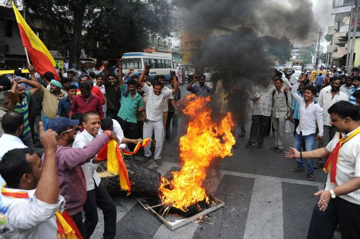 Protests against Supreme Court  orders in Karnataka